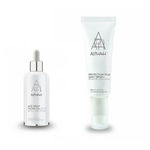 Alpha-H Protection Plus Daily SPF50 + Age Delay Facial Oil 50ml Duo