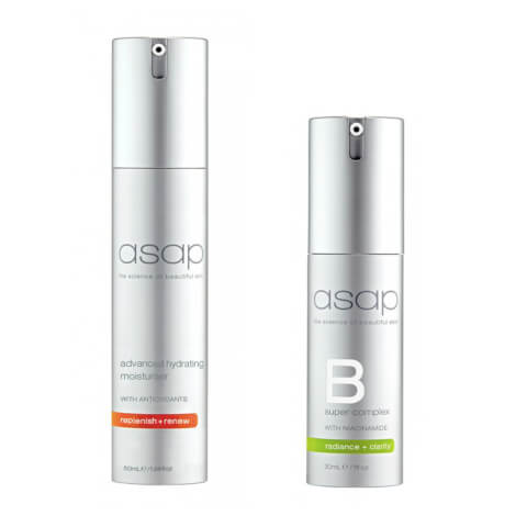 asap Advanced Hydrating Moisturiser 50ml + Super B Complex 30ml