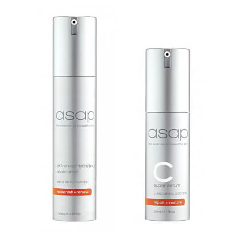 asap Advanced Hydrating Moisturiser 50ml + Super C Serum 30ml