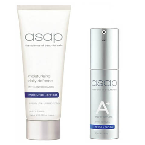 asap Moisturising Daily Defence SPF50+ (100ml) + Super A+ Serum 30ml