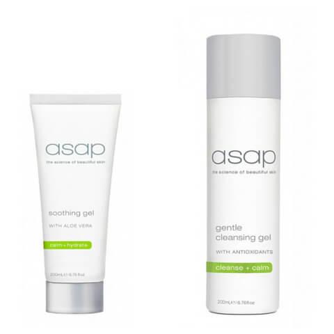 asap Special Cleansing Gel 200ml + Soothing Gel 200ml Duo
