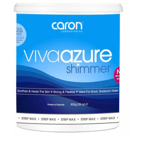 Caron Viva Azure Shimmer Microwaveable Strip Wax 800ml