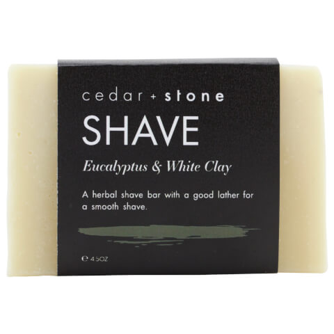Cedar + Stone Eucalyptus And White Clay Shave Cleanse Bar 140g