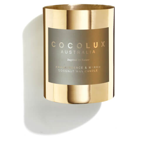 Cocolux Australia Brass Candle Frankincense & Myrrh 150g