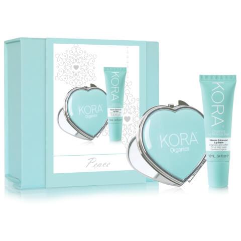 Kora Organics By Miranda Kerr Peace Vitamin Enhanced Lip Balm 10ml And Heart Pocket Mirror Gift Set