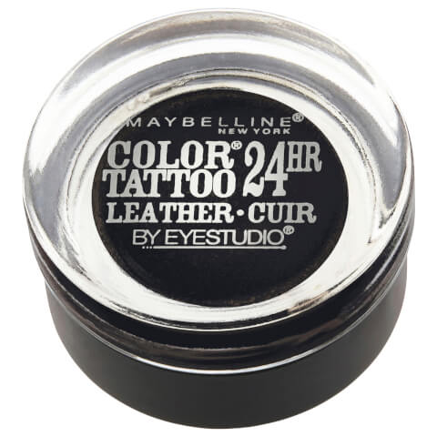 Maybelline Eyestudio Color Tattoo Leather 24hr #100 Dramatic Black 4g