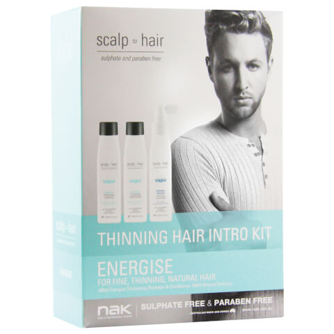 Nak Scalp To Hair Energise Thinning Hair Intro Trio Kit