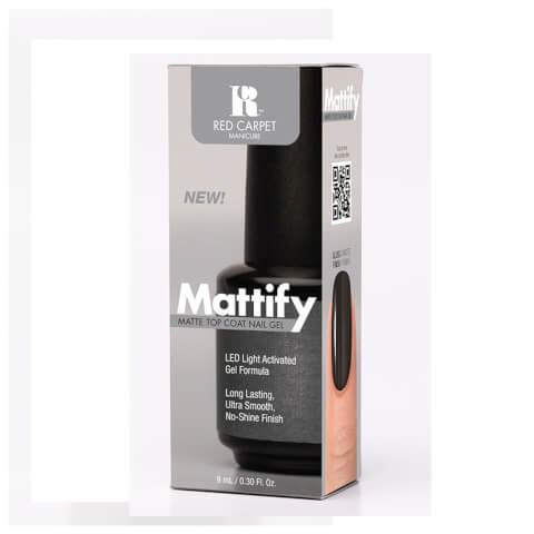 Red Carpet Manicure Mattify Matte Top Coat Nail Gel 9ml