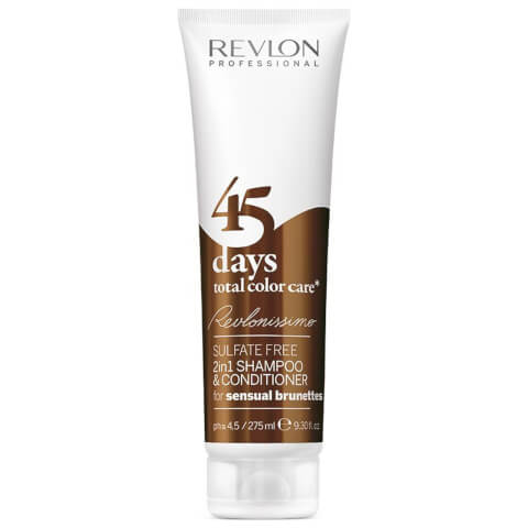 Revlon Professional 45 Days Total Color Care 2 in 1 Shampoo And Conditioner - Sensual Brunettes 275ml