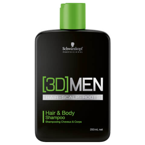 Schwarzkopf [3D] Men Hair & Body Shampoo 250ml
