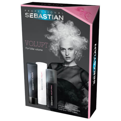 Sebastian Professional Volupt Shampoo And Conditioner And Volume Spray Trio Pack