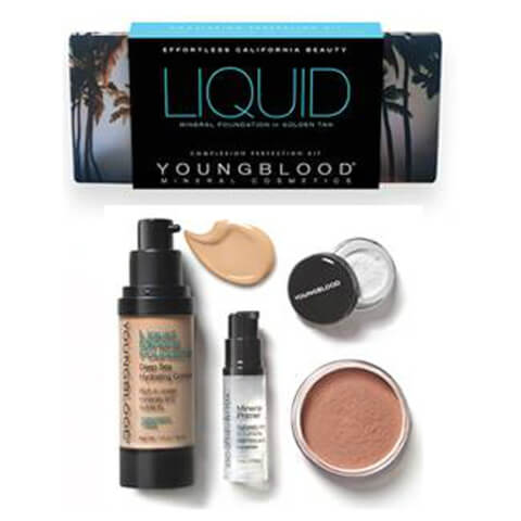 Youngblood Liquid Mineral Foundation Complexion Perfection Kit - Golden Tan