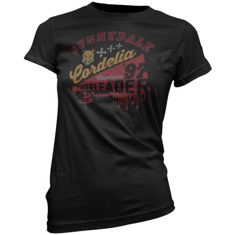 T-Shirt pour Femme Cordelia Cheerleader Buffy Contre les Vampires