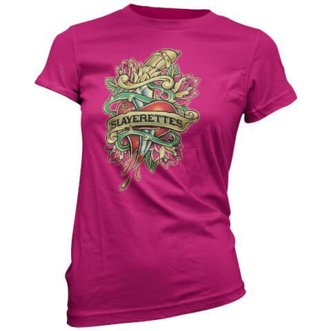 T-Shirt pour Femme Slayerettes Tatouage Buffy Contre les Vampires