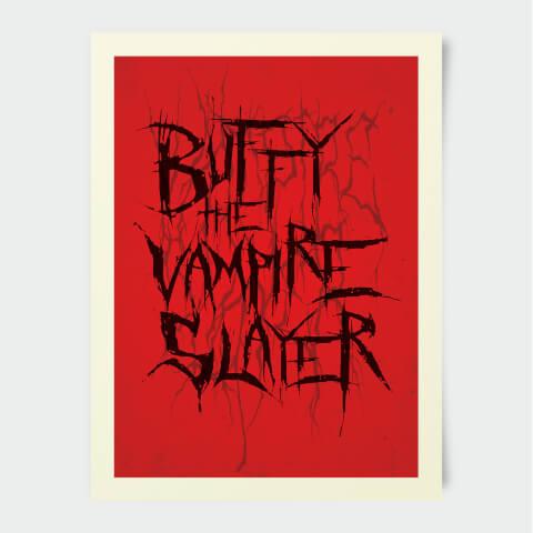 Buffy The Vampire Slayer Stylised 30x40cm Print