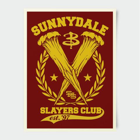 Buffy The Vampire Slayer Sunnydale High Slayers Club 30x40cm Print