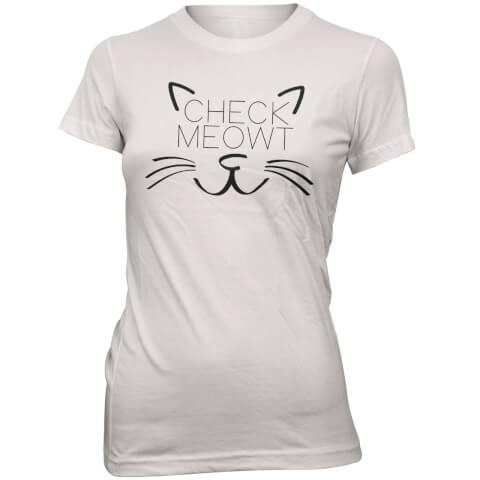 Check Meowt Women's Slogan T-Shirt