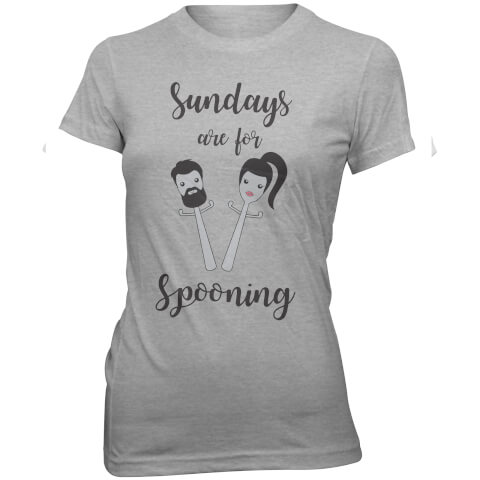 Sundays Are For Spooning Women's Slogan T-Shirt