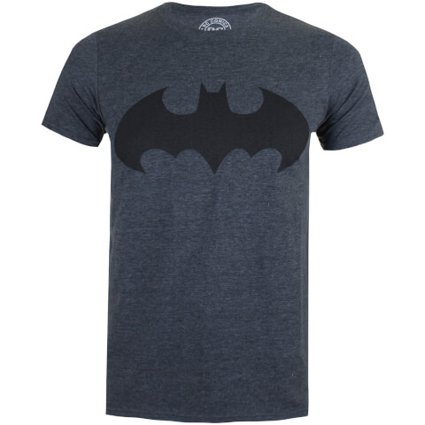 DC Comics Men's Batman Mono T-Shirt - Dark Heather