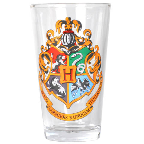 Harry Potter Hogwarts Large Glass in Gift Box