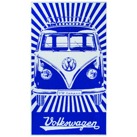 Serviette de Plage VW Collection Camper - Bleu