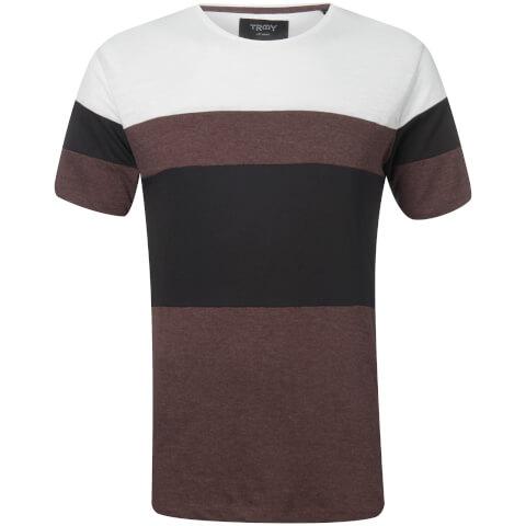 Troy Men's Bama Colour Block T-Shirt - White