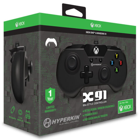 Licensed X91 90's Style Controller XBOX 1 & PC Controller - Black