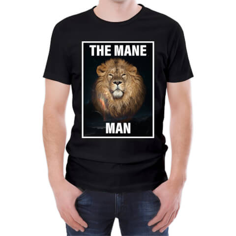 T-Shirt Homme The Mane Man - Noir
