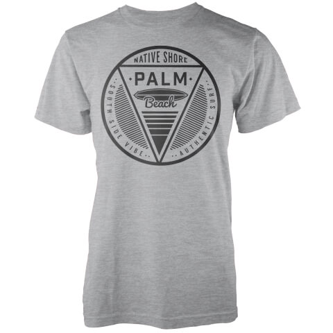 Native Shore Men's Palm Beach T-Shirt - Light Grey Marl