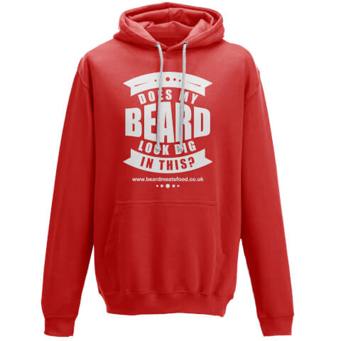 Does My Beard Look Big In This Men's Red Hoodie