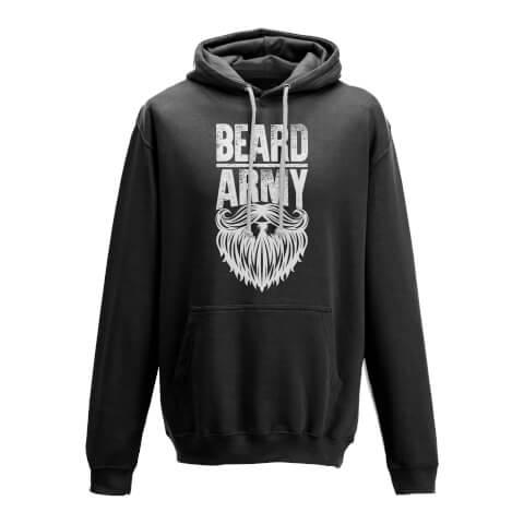 Beard Army Men's Black Insignia Hoodie