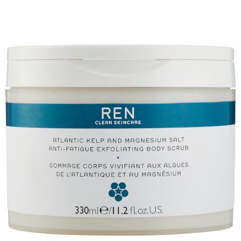 REN Skincare Atlantic Kelp and Magnesium Salt Anti-Fatigue Exfoliating Body Scrub 330ml