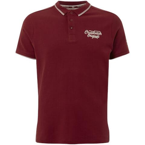 Crosshatch Men's Morristown Polo Shirt - Sun Dried Tomato