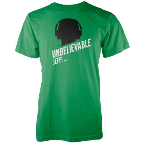 Unbelievable Jeff Men's Green T-Shirt