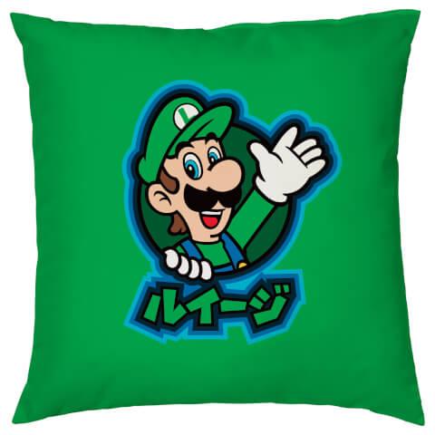 Nintendo Luigi Kanji Cushion