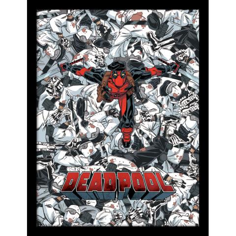 Marvel Deadpool Bodies Framed 30 x 40cm Print