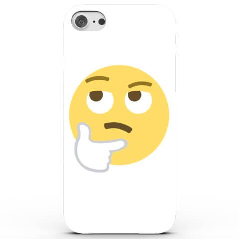 Coque iPhone & Android Emoji Réfléchit - 4 Couleurs