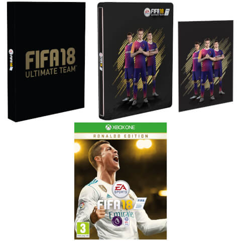 FIFA 18 - Ronaldo Edition With Exclusive Steelbook and Artcard