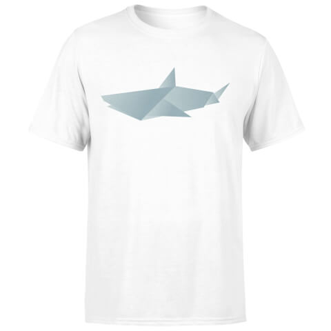 T-Shirt Homme Requin Origami - Blanc