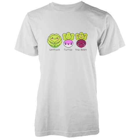Kawaii Lettuce Turnip The Beat White T-Shirt