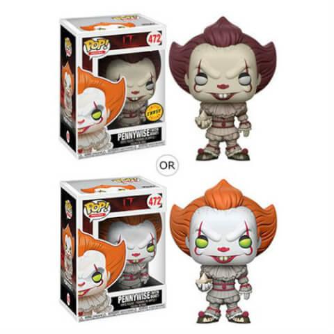 Figurine Pop! Pennywise le Clown avec Bateau ÇA - ou Variante Chase