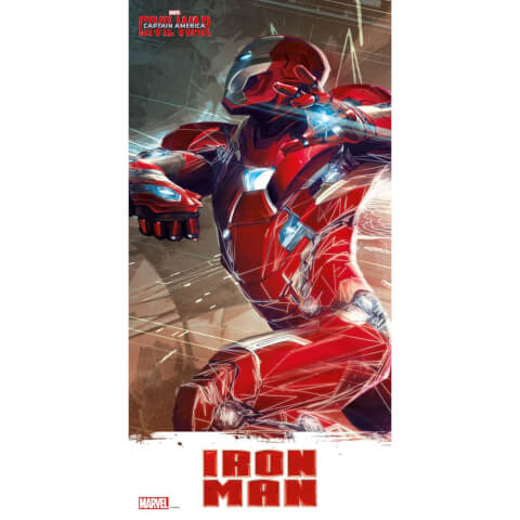 Captain America Civil War Glass Poster - Iron Man (60 x 30cm)