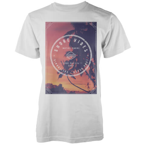 Native Shore Men's Sunset Shore Graphic T-Shirt - White