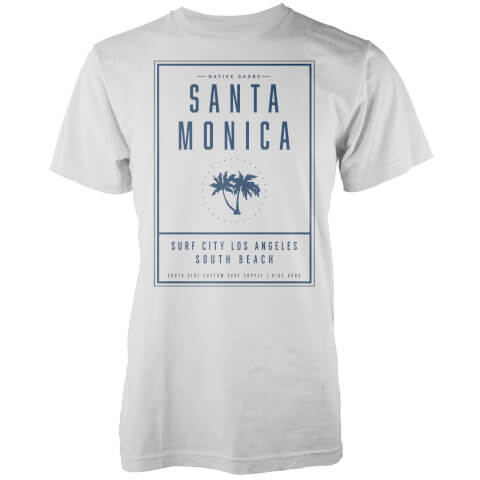 Native Shore Men's Santa Monica LA T-Shirt - White