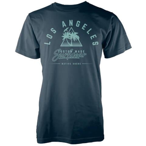 T-Shirt Homme Los Angeles Surfwear Native Shore - Bleu Marine