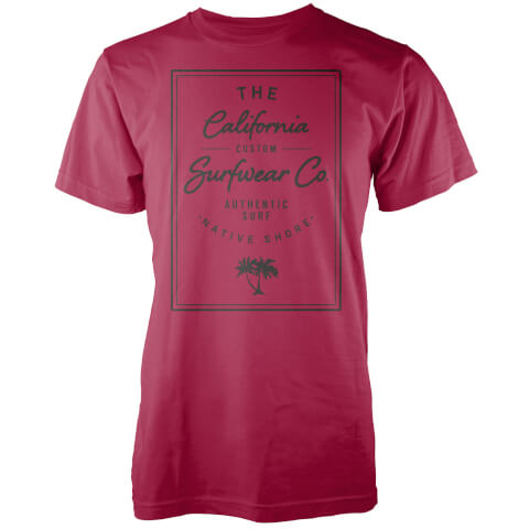 Native Shore Men's California Surfwear Co. T-Shirt - Red