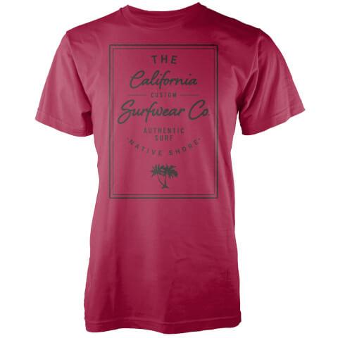 T-Shirt Homme California Surfwear Co. Native Shore - Rouge