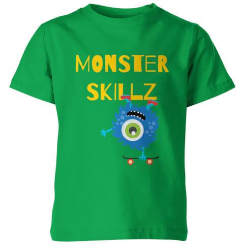 Monster Skulls Kid's Green T-Shirt