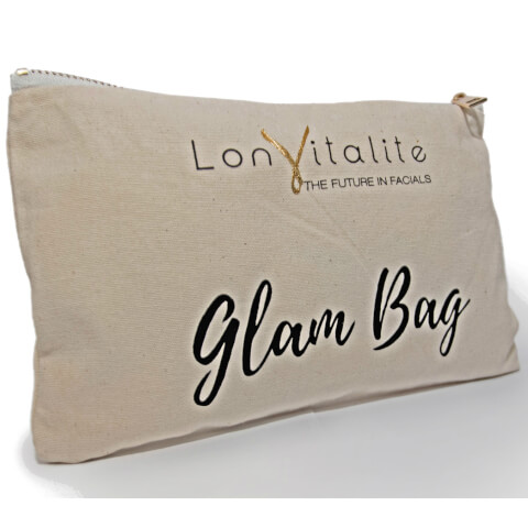 Lonvitalite Canvas Glam Bag Cosmetic Bag