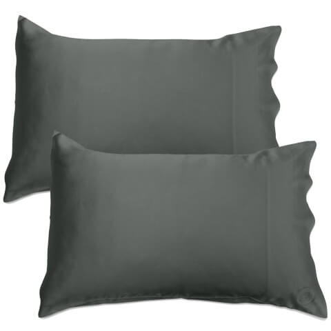 The Goodnight Co. Silk Pillowcase Twin Pack - Charcoal
